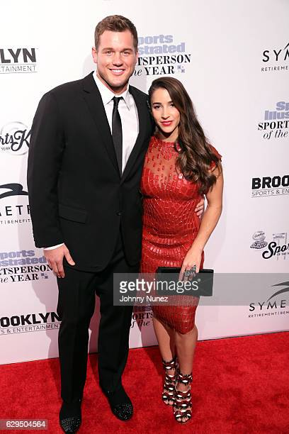 NFL player Colton Underwood and Olympic gymnast Aly Raisman attend the 2016 Sports Illustrated Sportsperson of the Year event at Barclays Center of...