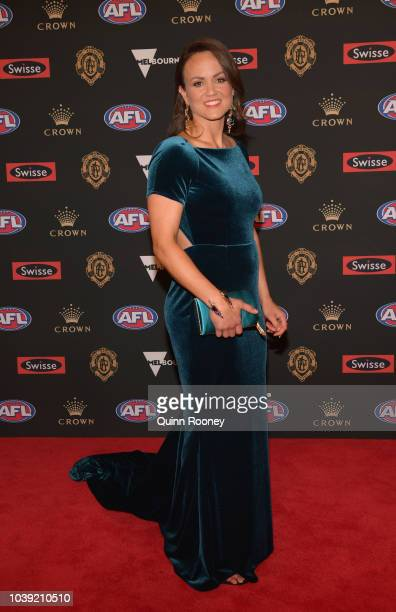AFLW player Daisy Pearce arrives ahead of the 2018 Brownlow Medal at Crown Entertainment Complex on September 24 2018 in Melbourne Australia