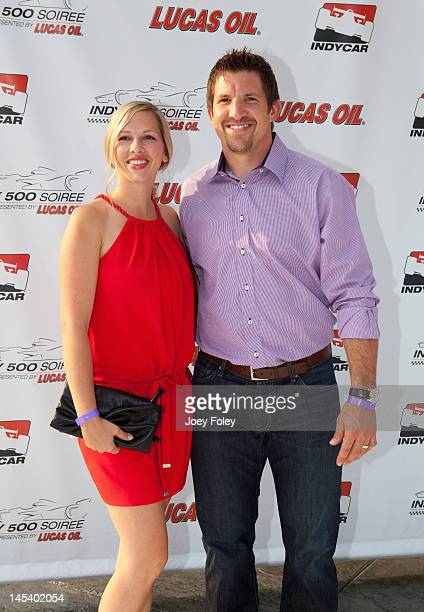 Player Dallas Clark and wife Karen Clark attends the Indy 500 Soiree Presented by Lucas Oil on May 25 2012 in Indianapolis United States