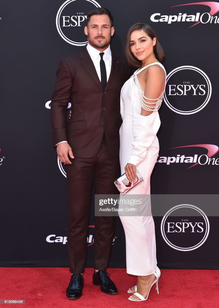 NFL player Danny Amendola and actress Olivia Culpo arrive at the 2017 ESPYS at Microsoft Theater on July 12, 2017 in Los Angeles, California.