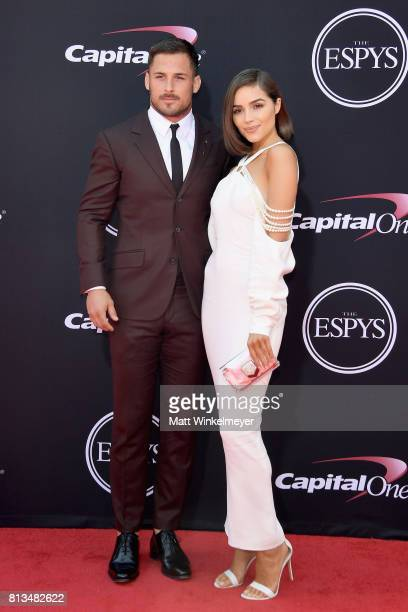 NFL player Danny Amendola and model Olivia Culpo attend The 2017 ESPYS at Microsoft Theater on July 12 2017 in Los Angeles California
