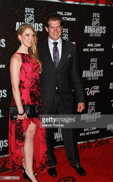 NHL player David Backes and wife Kelly Backes attend the 2012 NHL Awards at Wynn Las Vegas on June 20 2012 in Las Vegas Nevada