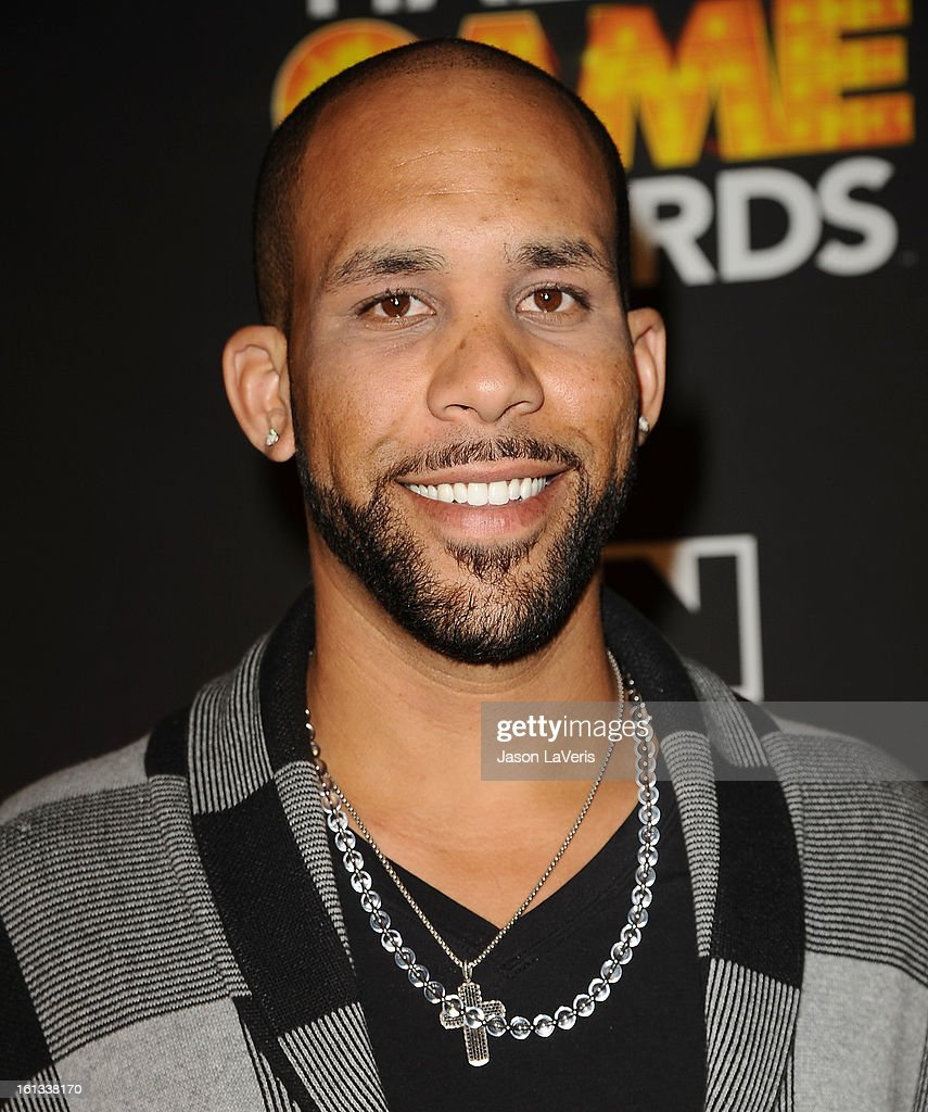 MLB player David Price poses in the press room at Cartoon Network's 3rd annual Hall Of Game Awards at Barker Hangar on February 9, 2013 in Santa Monica, California.