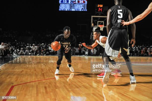 NBA player Dennis Schroeder from the Atlantic Hawks during the NBA Africa Game 2017 basketball match between Team Africa and Team World on August 5...