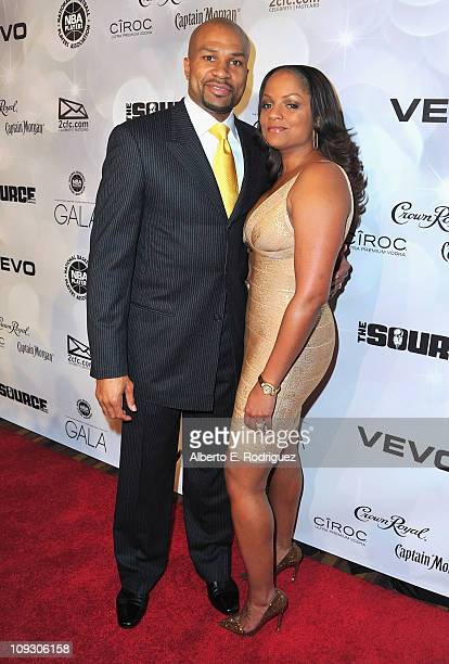 NBA player Derek Fisher and wife Candace Fisher arrive to the National Basketball Players Association AllStar Gala on February 19 2011 in Los Angeles...