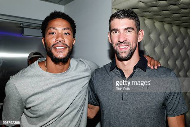 NBA player Derrick Rose and Olympic swimmer Michael Phelps attend The Ultimate Fan Experience Call Of Duty XP 2016 presented by Activision at The...