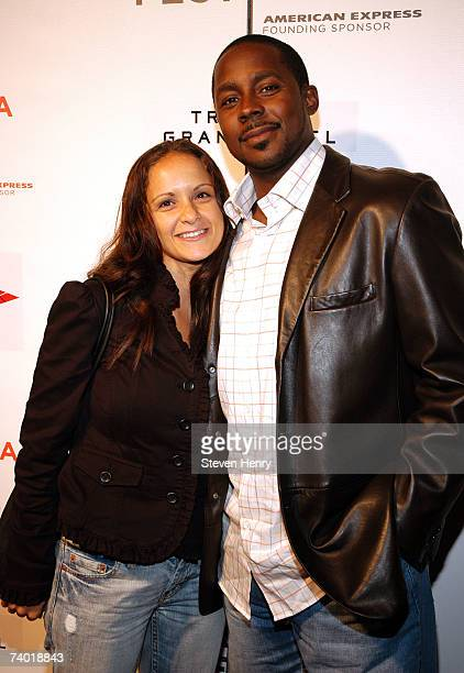 NFL player Desmond Howard and his wife Rebkah attend the Power Of The Game after party at the Tribeca Grand Hotel during the 2007 Tribeca Film...