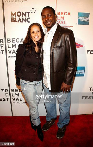 NFL player Desmond Howard and his wife Rebkah attend the premiere of the Power Of The Game at the 2007 Tribeca Film Festival April 28 2007 in New...