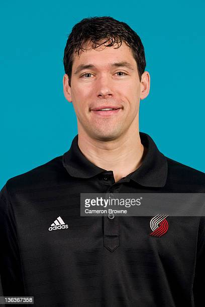 Player Development coach Dan Dickau of the Portland Trail Blazers poses for a portrait during Media Day on December 16 2011 at the Rose Garden Arena...