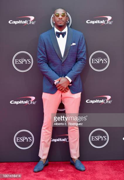 NFL player Devin Funchess attends The 2018 ESPYS at Microsoft Theater on July 18 2018 in Los Angeles California