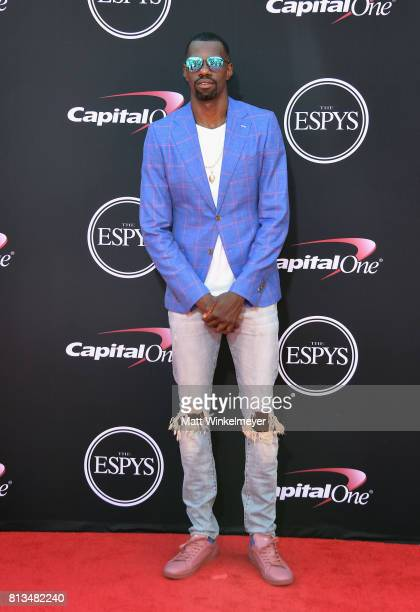 NBA player Dewayne Dedmon attends The 2017 ESPYS at Microsoft Theater on July 12 2017 in Los Angeles California