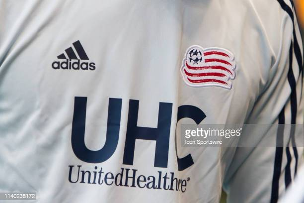 A player dons a United Healthcare warmup shirt prior to the match between Sporting Kansas City and the New England Revolution on Saturday April 27...