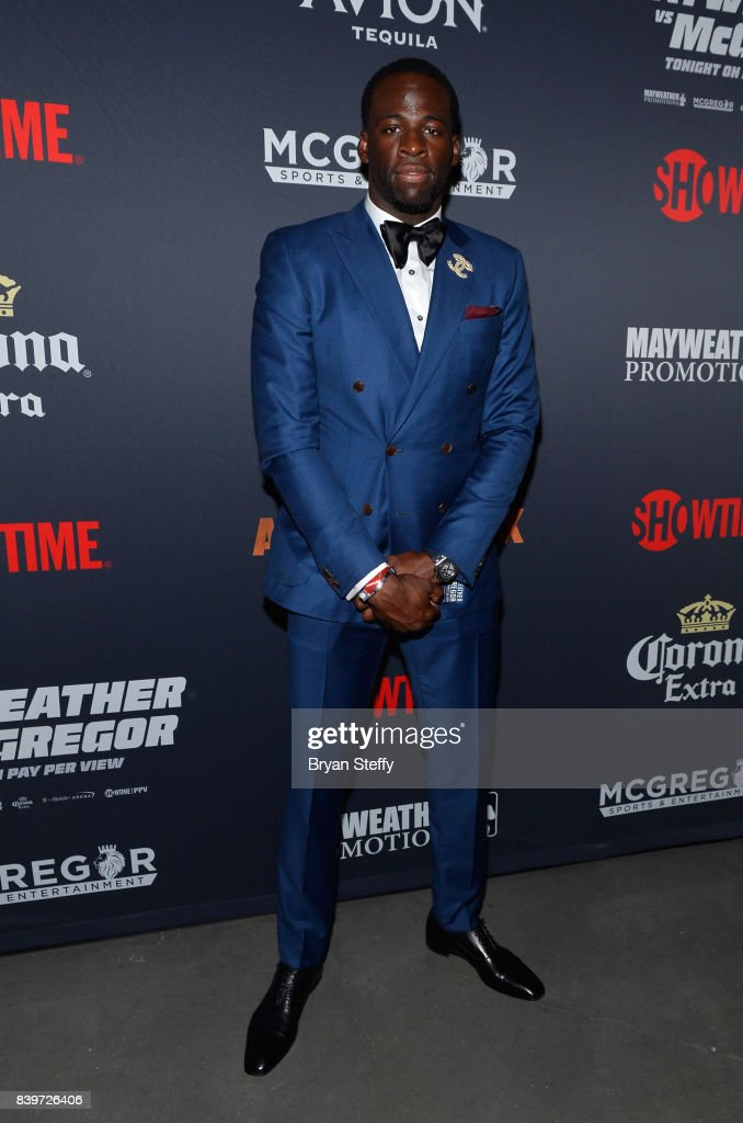 NBA player Draymond Green attends the Showtime, WME IME and Mayweather Promotions VIP Pre-Fight party for Mayweather vs. McGregor at T-Mobile Arena on August 26, 2017 in Las Vegas, Nevada.