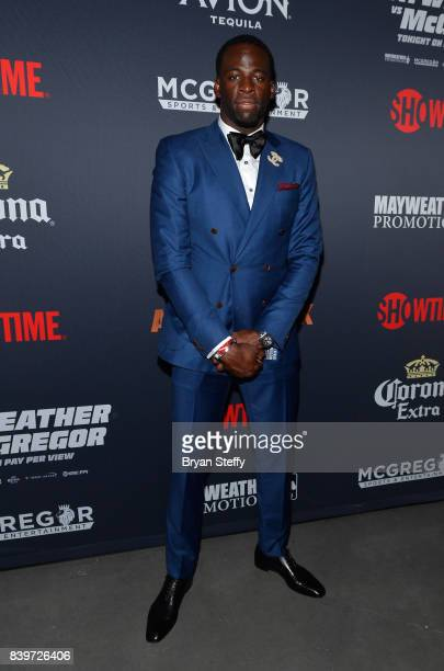 NBA player Draymond Green attends the Showtime WME IME and Mayweather Promotions VIP PreFight party for Mayweather vs McGregor at TMobile Arena on...
