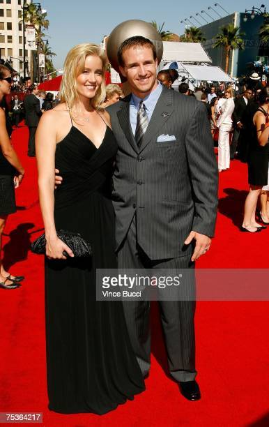 NFL player Drew Brees and wife Brittany Brees arrive at the 2007 ESPY Awards at the Kodak Theatre on July 11 2007 in Hollywood California