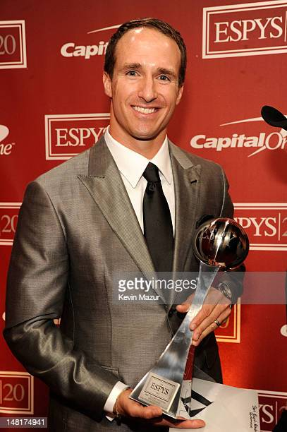 NFL player Drew Brees of the New Orleans Saints attends the 2012 ESPY Awards at Nokia Theatre LA Live on July 11 2012 in Los Angeles California