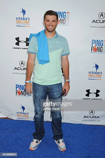 MLB player Drew Butera attends Clayton Kershaw's 2nd Annual Ping Pong 4 Purpose Charity Event Benefiting 'Kershaw's Challenge' at Dodger Stadium on...