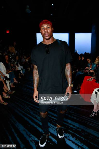NFL player Duke Ihenacho during the Bibhu Mohapatra fashion show with Narayan Jewellers in association with ForeverMark Diamonds at Skylight Clarkson...