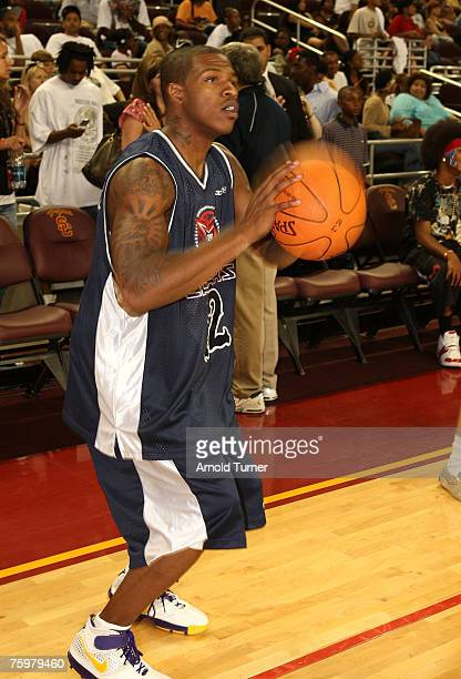 Player during the LA stars celebrity all star charity weekend celebrity and NBA all star game at USC Galen Center on August 5, 2007 in Los Angeles,...