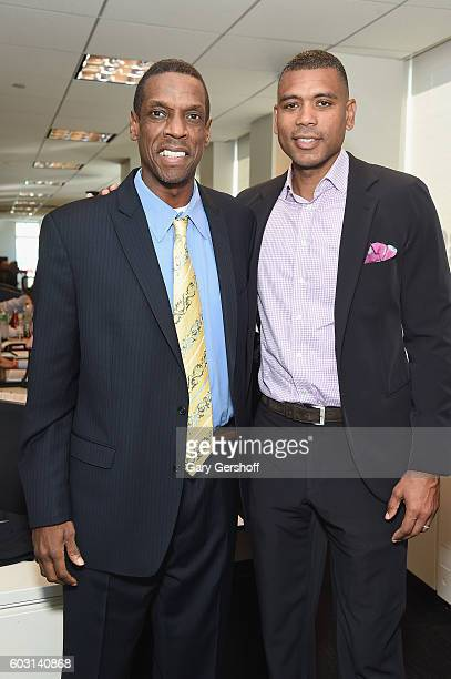 MLB player Dwight 'Doc' Gooden and NBA player Allan Houston attends Annual Charity Day hosted by Cantor Fitzgerald BGC and GFI at BGC Partners INC on...