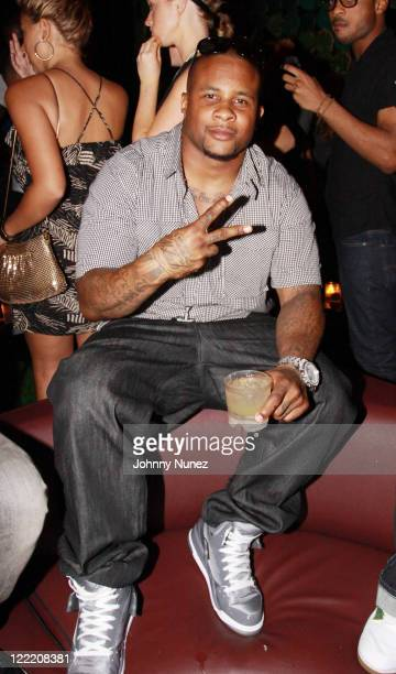 NFL player Dwight Freeney visits Greenhouse on July 6 2010 in New York City