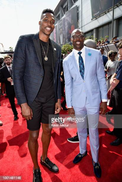 NBA player Dwight Howard and former NFL player Terrell Owens attends the The 2018 ESPYS at Microsoft Theater on July 18 2018 in Los Angeles California
