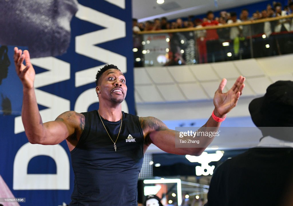NBA Player Dwight Howard Is Seen In Harbin : News Photo
