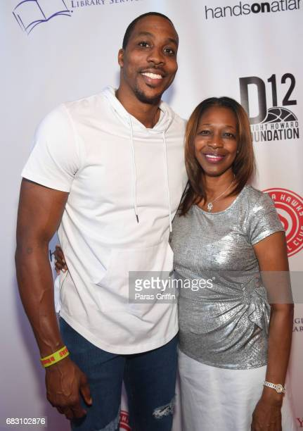 """Player Dwight Howard poses with his mother Sheryl Howard at """"Diary Of A Wimpy Kid: The Long Haul"""" Atlanta screening hosted by Dwight Howard at Regal..."""