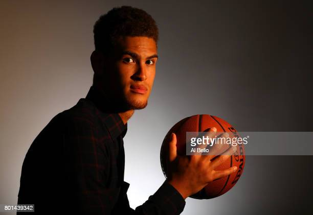 NBA player Dwight Powell poses for a portrait at NBPA Headquarters on June 23 2017 in New York City