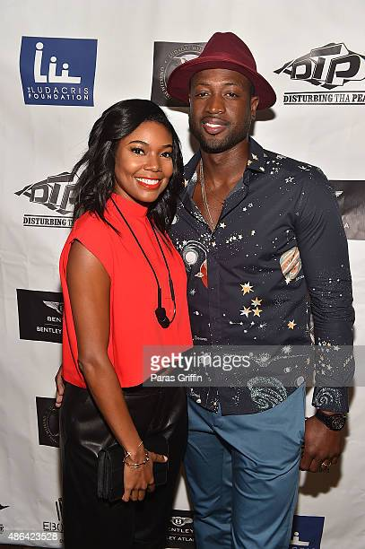 Player Dwyane Wade and actress Gabrielle Union attend LudaDay Celebrity Bowling Spades Tournament at Bowlmor Lanes on September 3 2015 in Atlanta...