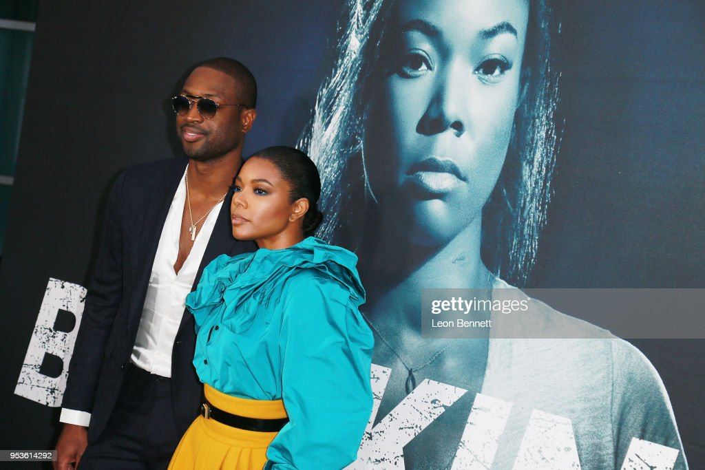 NBA player Dwyane Wade and actress/wife Gabrielle Union attend Universal Pictures' Special Screening Of 'Breaking In' - Arrivals at ArcLight Cinemas on May 1, 2018 in Hollywood, California.