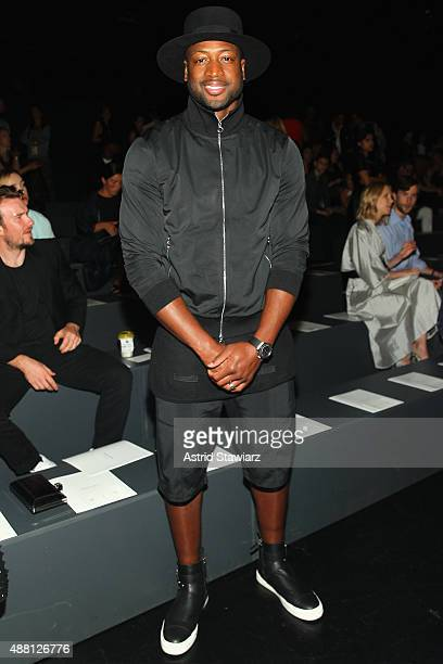 NBA player Dwyane Wade attends Prabal Gurung Spring 2016 during New York Fashion Week The Shows at The Arc Skylight at Moynihan Station on September...