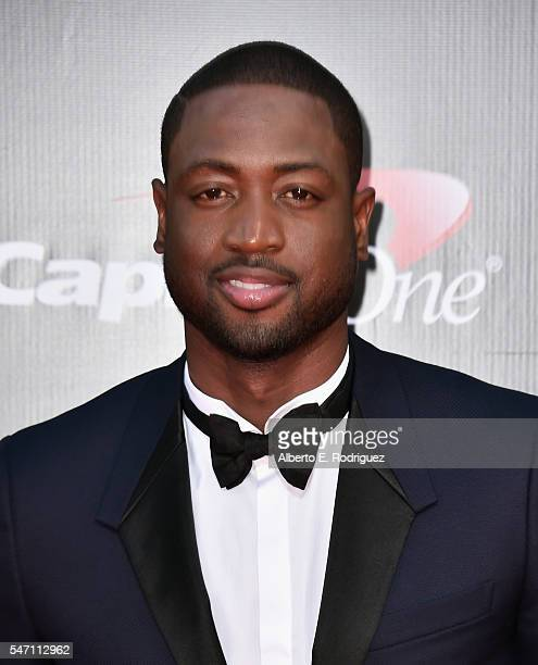 NBA player Dwyane Wade attends the 2016 ESPYS at Microsoft Theater on July 13 2016 in Los Angeles California