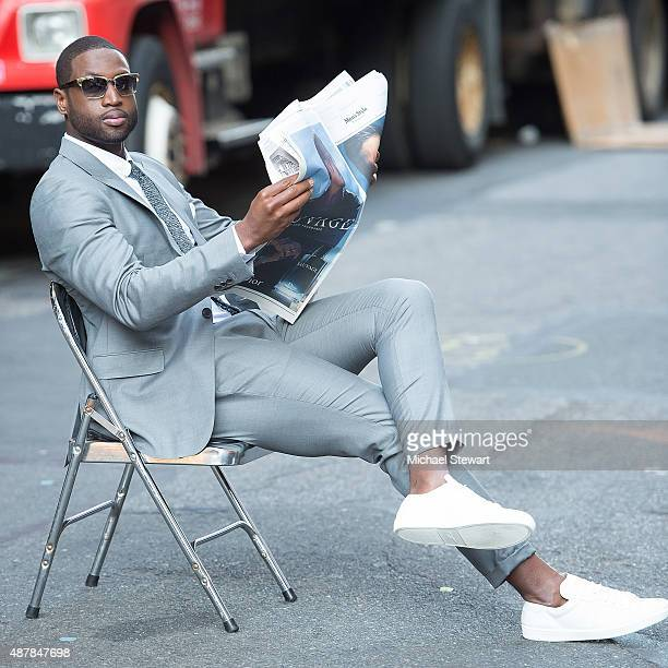 NBA player Dwyane Wade seen in the Flatiron District on September 11 2015 in New York City