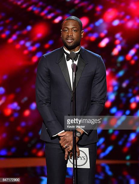 NBA player Dwyane Wade speaks onstage during the 2016 ESPYS at Microsoft Theater on July 13 2016 in Los Angeles California