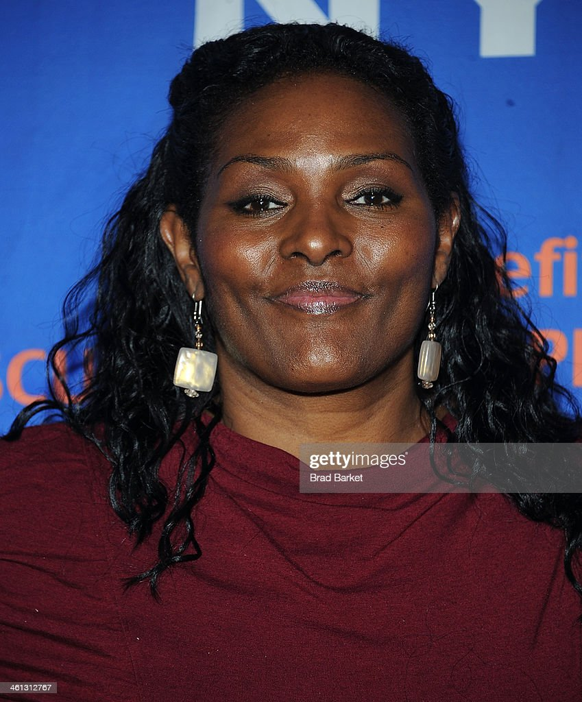 Player Ebony Hoffman attends the 2014 MDA Muscle Team gala and benefit auction at Pier 60 on January 7, 2014 in New York City.