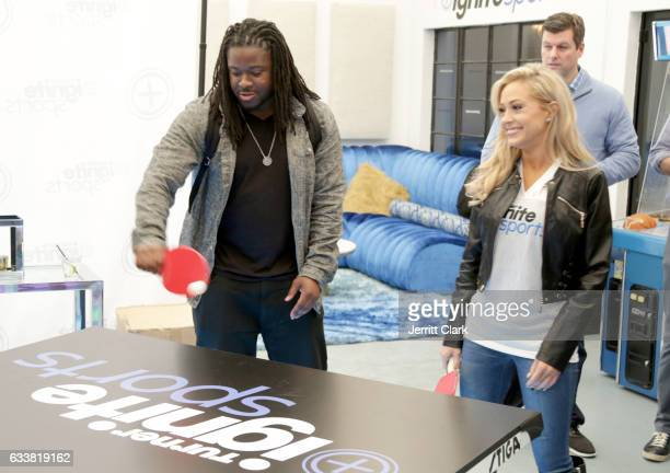 NFL player Eddie Lacy attends Turner Ignite Sports Luxury Lounge on February 4 2017 in Houston Texas