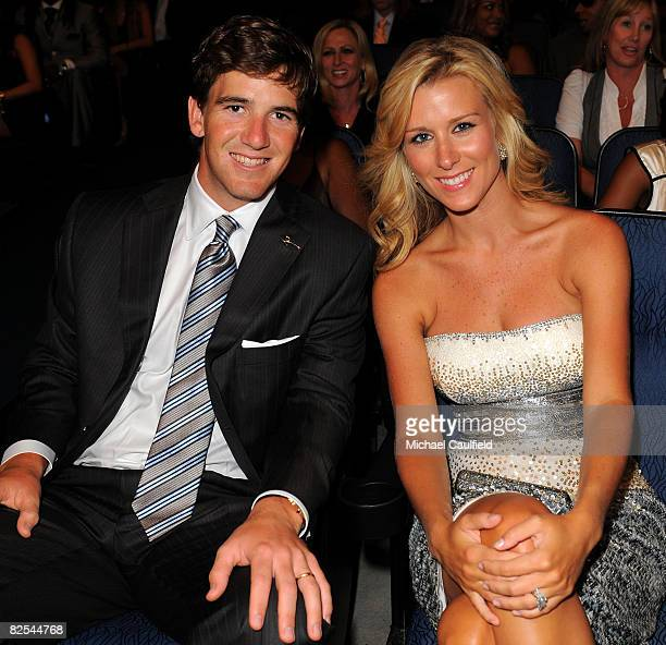 Player Eli Manning and wife Abby McGrew at the 2008 ESPY Awards held at NOKIA Theatre L.A. LIVE on July 16, 2008 in Los Angeles, California. The 2008...