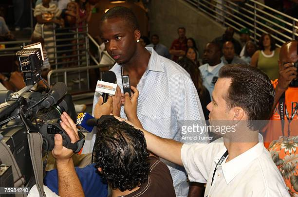 Player Emeka Okafor during the LA stars celebrity all star charity weekend celebrity and NBA all star game at USC Galen Center on August 5, 2007 in...