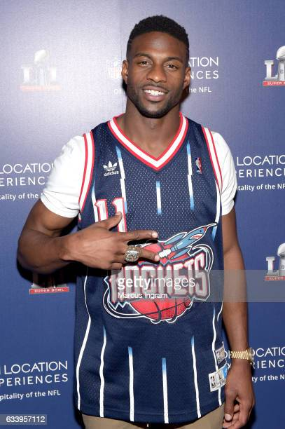 NFL player Emmanuel Sanders at On Location Experiences' Super Bowl LI PreGame Events at NRG on February 5 2017 in Houston Texas