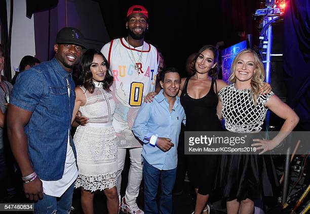 NFL player Emmanuel Sanders professional wrestler Brie Bella NBA player Andre Drummond jockey Victor Espinoza professional wrestler Nikki Bella and...