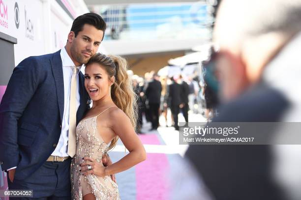 NFL player Eric Decker and recording artist Jessie James Decker attend the 52nd Academy Of Country Music Awards at TMobile Arena on April 2 2017 in...