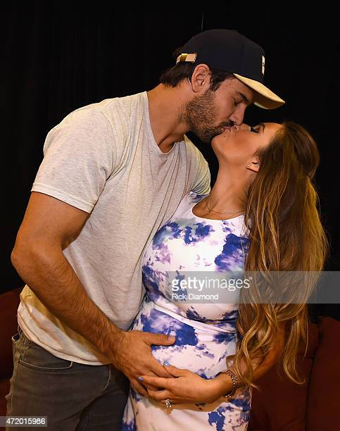 NFL player Eric Decker and singer Jessie James Decker attend the 2015 iHeartRadio Country Festival at The Frank Erwin Center on May 2 2015 in Austin...