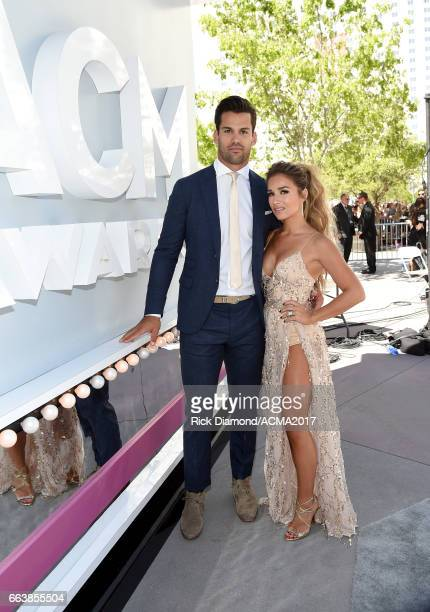 NFL player Eric Decker and singer Jessie James Decker attend the 52nd Academy Of Country Music Awards at Toshiba Plaza on April 2 2017 in Las Vegas...
