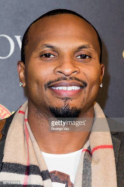 NFL player Eric King attends the Bulova/Manchester United Trophy Tour Red Carpet Event at W Hollywood on February 6 2014 in Hollywood California