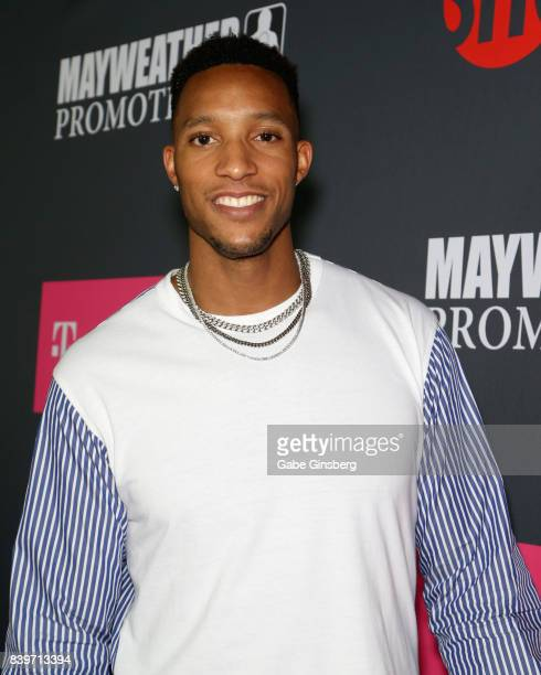 NBA player Evan Turner arrives on TMobile's magenta carpet duirng the Showtime WME IME and Mayweather Promotions VIP PreFight Party for Mayweather vs...