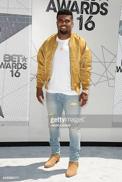 NFL player Ezekiel Elliott attends the 2016 BET Awards at Microsoft Theater on June 26 2016 in Los Angeles California