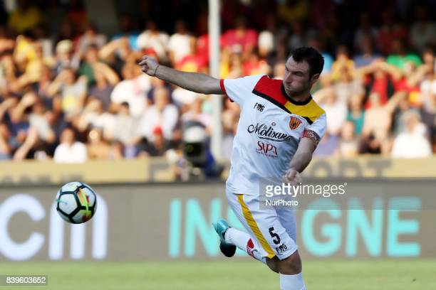 player f Benevento Lucio difender central Match of Serie A TIM between Benevento Calcio vs FC Bologna Stadium Ciro Vigorito August on 26 2017
