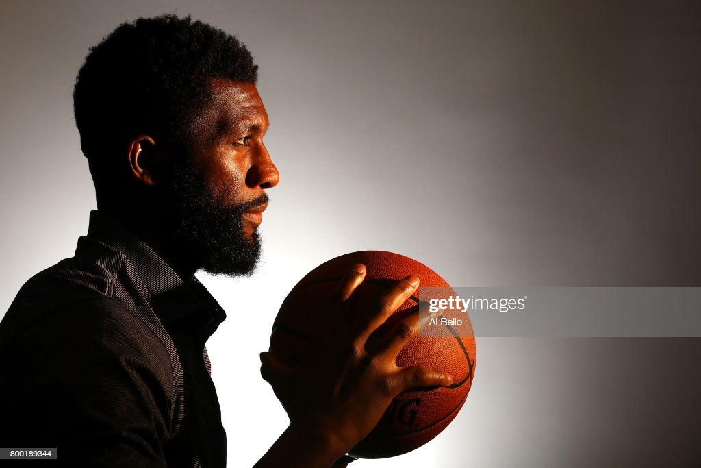 NBA player Festus Ezeli poses for a portrait at NBPA Headquarters on June 23, 2017 in New York City.