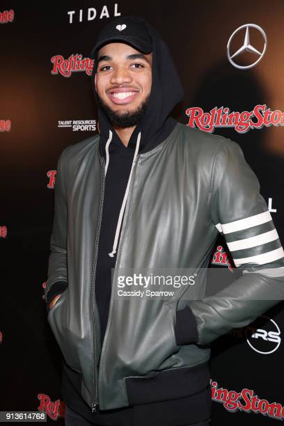 NBA player for Minnesota Timberwolves KarlAnthony Towns at Rolling Stone Live Minneapolis presented by MercedesBenz and TIDAL Produced in partnership...